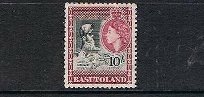 STAMPS  from  BASUTOLAND  1954 Q. ELIZ. 10/- (MINT - HINGED)  lot (A54)