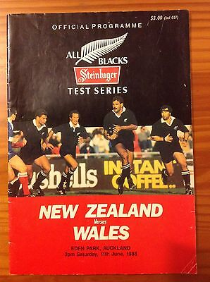 New Zealand v Wales 2nd Test 1988 Signed Rugby Programme