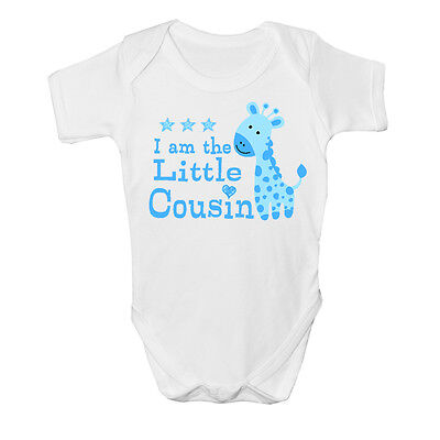 I am the Little cousin Baby Vest cute grow Funny bodysuit New Gift Boys Design