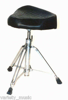 """DXP - Very heavy duty drum throne stool. Well padded """"saddle type"""" seat."""