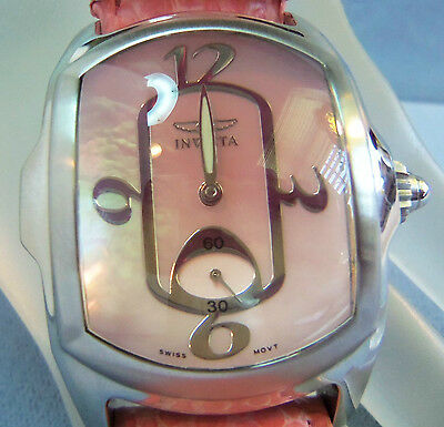 Invicta Large Pink Face & Copperhead Snake Band  Watch  Swiss Movement 2323  Fab