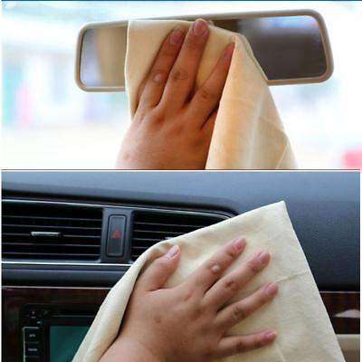 Natural Chamois Leather Car Cleaning Cloth Washing Suede Absorbent Towel New