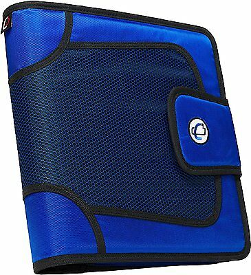 Case-it Velcro Closure 2-Inch Blue 3-Ring Tab File Binder Office Organizer