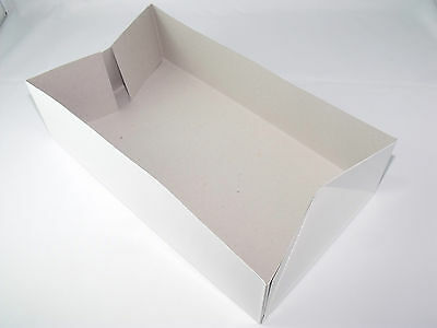 "30pc Paper Tray11.5""x6.5""x3.13"" foldable rectangular white paper"