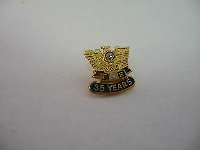 FOE Fraternal Order of Eagles Mason Fraternal Pin Award ~ 35 Years ~