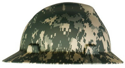 MSA 10104254 Digital Camo Full Brim Hard Hat with Ratchet Suspension