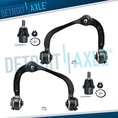 All (4) Front Upper Control Arms + Ball Joints + 2 Lower Ball Joints Ford F-150
