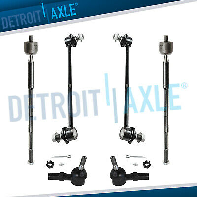 6pc Inner Outer Tie Rod Sway Bar Link for 2003 - 2008 Pontiac Vibe Toyota Matrix