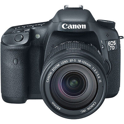 Canon EOS 7D 18.0 MP Digital SLR Camera - Black (Kit w/ EF-S IS 18-135mm Lens)