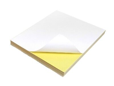 Quality A4 Blank MATT Self Adhesive / Sticky Back Label Printing Paper Sheets
