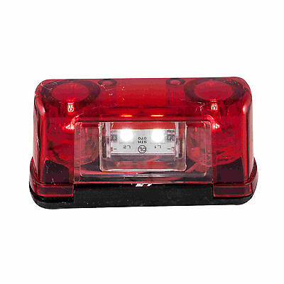 2 pcs 4 LED Rear Tail License Number Plate Light Lamp 24V Lorry Truck Trailer