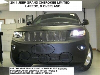 Lebra Front End Mask Cover Bra Fits 2014 2015 Jeep Grand Cherokee Lorado Limited