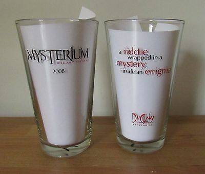 Set of 2 DUCLAW BREWING CO. Maryland Beer Pint Glasses ~ Mysterium Belgian Ale