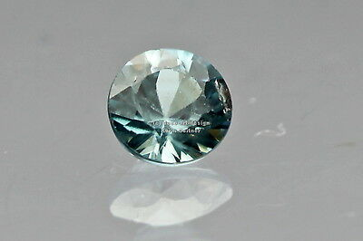 ZIRCON blau facettiert diamond cut ca 4,3 mm rund ca. 0,5 ct TOP Schliff !