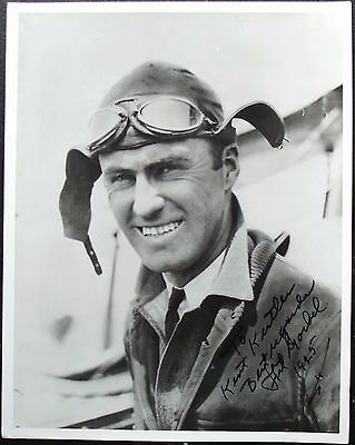 Arthur Goebel Aviation Pioneer Won Dole Race In 1927 Signed Photograph
