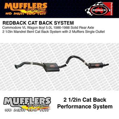 Redback Cat Back 2 1/2 Suitable For Commodore VL Wagon 5.0L