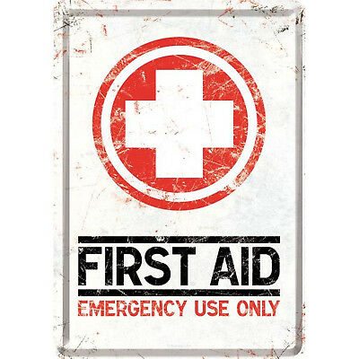 Nostalgic Art Blechpostkarte FIRST AID - ERSTE HILFE EMERGENCY USE ONLY