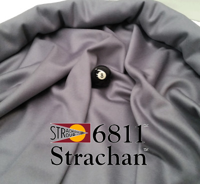 STRACHAN 6811 English Pool Snooker Billiards CLOTH 7ft x 3.6ft - GREY