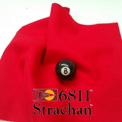 STRACHAN 6811 English Pool Snooker Billiards CLOTH 7ft x 3.6ft - RED