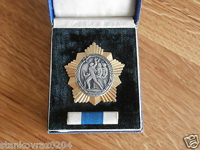 Yugoslavia, Order of the People's Liberation , miniature and box, silver