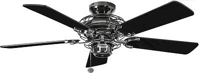 """Fantasia Ceiling Fan Gemini 42"""" 111931 Pewter Finish With Gloss Black Blades"""