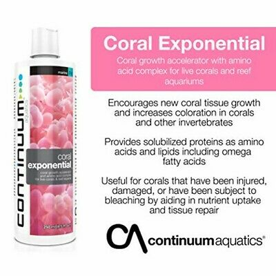 CORAL EXPONENTIAL Coral Growth Accelerator ( Protects, Feeds & Repairs) • EUR 15,31