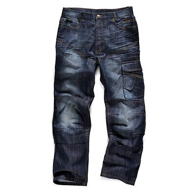 Scruffs Trade Denim Work Jeans - NEW - Worker Trade Pro Cargo Combat Trousers