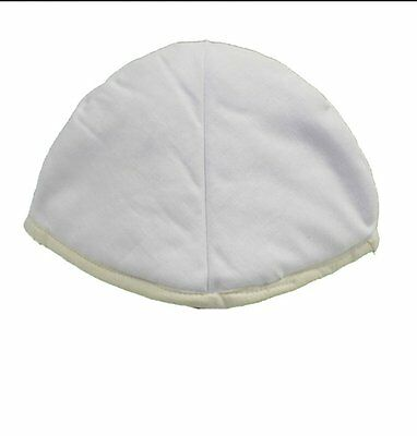 Helmet Liner Padding - Skull Fit - Soft Cotton Pad - One Size fits Most - White