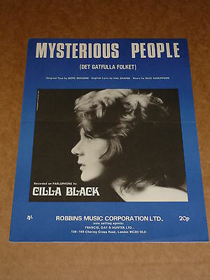 "Cilla Black ""Mysterious People"" sheet music"