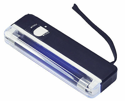 UK Portable UV Light Forgery Fake Bank Money Note Checker Detector with Torch