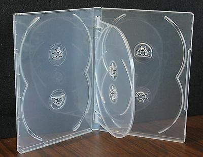 MegaDisc 10 Pk Super Clear 14 mm 6 Discs Tray DVD Case Box Holder Premium