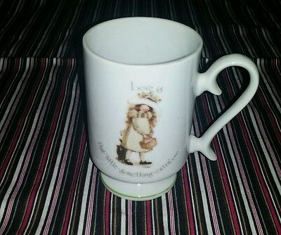 """Vintagw Holly Hobbie Porcelain Cup """"Love Is That Little Something Extra"""""""