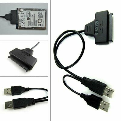 "2.5"" HDD USB to SATA Serial ATA 15+7 Adapter Cable Lead for PC Laptop Hard Drive"