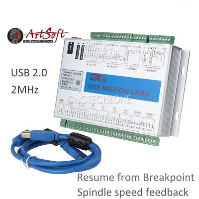 Upgrade 4 Axis 2MHz USB Mach3 CNC Motion Control Card Breakout Board Windows 7