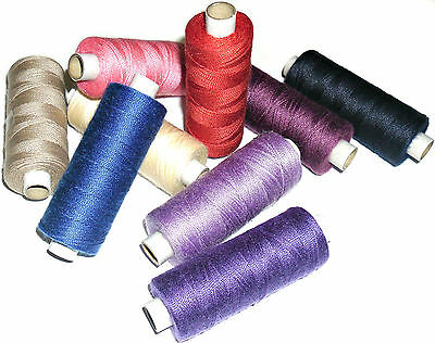 160MTR SPOOL POLY//COTTON VARIOUS COLOURS TOP QUALITY 25/'S JEAN REPAIR THREAD