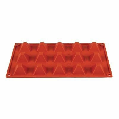 Pavoni Formaflex Silicone 15 Pyramid Mould 2X4X4cm Baking Tool Dishwasher Safe