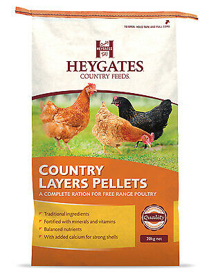 20kg HEYGATES  LAYERS PELLETS Chicken Feed (MMCS)