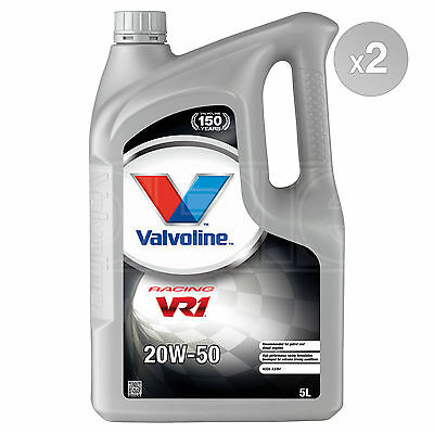 Valvoline VR1 Racing 20W-50 Refined 20W50 Mineral Engine Oil 2 x 5 Litres 10L