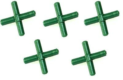 x5 Cross Shaped Connectors for Standard Aquarium Air Line Cross Fitting