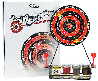 Darts Shots Novelty Drinking Game - Magnetic Board Game Giftable Party Set NIB