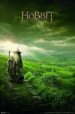 Lord of the Rings Gandalf Art Poster print Hobbit Shire Green Grass Wizard Light