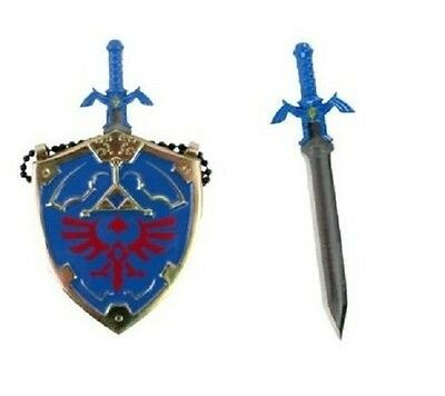 Mini Hylian Shield & Link's Master Sword Legend of Zelda Necklace letter opener
