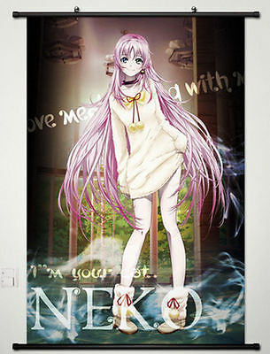 Home Decor Japanese Anime Wall poster Scroll K Project Fabric Painting Neko
