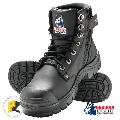 Steel Blue Argyle Zip Bump Cap Black Safety Toe Work Boots 332152