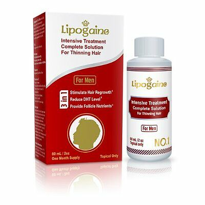 Lipogaine for Men 60ml/2oz Intensive Hair Regrowth Treatment with Minoxidil