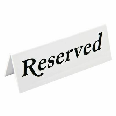 10X Reserved Table Sign 45X120X36mm Bar Restaurant Tableware