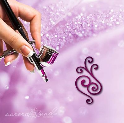 Airbrush sticky templates F206 NAILART 80x Tendril Ornament Blumenmuster Leaves