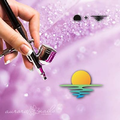 Airbrush sticky templates - M409 - NAILART Sea Summer Sun Sunset 40x