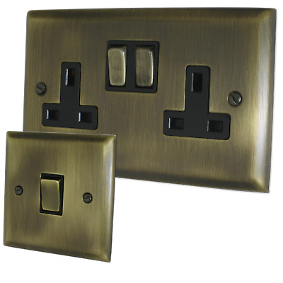 Spectrum Antique Brass Sockets and Switches - Full Range