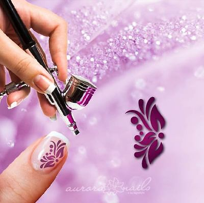 Airbrush sticky templates - F305 - NAILART 80 Pcs Ornament Floral Flowers